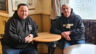 Terry and Bob in the pub