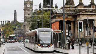 Trams in Princes Street