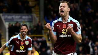 Ashley Barnes celebrates
