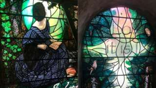 Florence Nightingale window being installed at Romsey Abbey