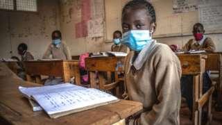 School pupil in Nairobi, Kenya