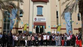 Staff at the University of Birmingham's Dubai campus