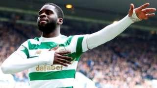 Odsonne Edouard celebrates scoring Celtic's third goal