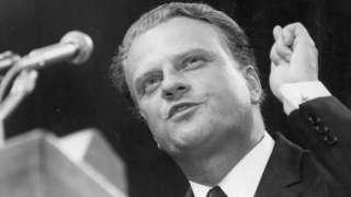 American evangelist Dr Billy Graham addressing the congregation at Earl's Court - June 1966