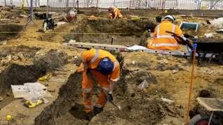 HS2 Stoke Mandeville excavation site