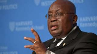 The President of Ghana speaking at an event