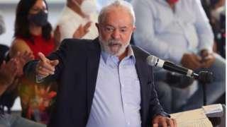 Lula faz discurso