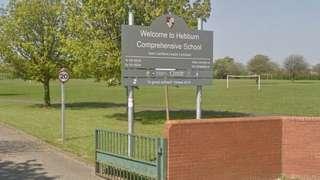 Hebburn Comprehensive school sign