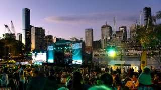 Brisbane'de kutlama