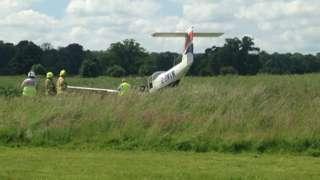 Plane crash at Brimpton Airfield