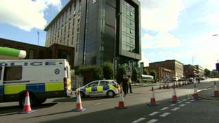 Birmingham police cordon