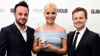 Ant, Dec and Holly Willoughby in 2016