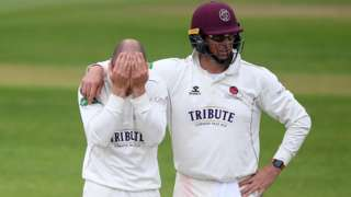 jack Leach and Marcus Trescothick