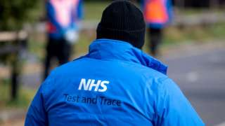 NHS Test and Trace worker