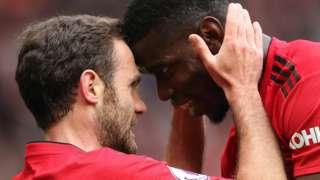Juan Mata and Paul Pogba