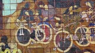 Bicycle Wall made by John Watson