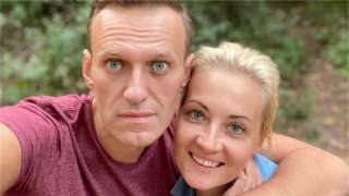 Alexei Navalny and his wife, Yulia Navalnaya