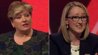 Emily Thornberry (l) and Rebecca Long-Bailey (r)