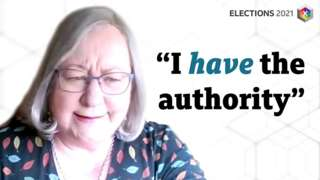 "Jackie Weaver saying ""I have the authority"""