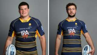 Worcester prop Ryan Bower (left) and flanker Zac Xiourouppa