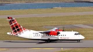 Loganair ATR42 plane