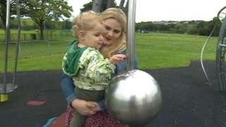 Alex Davies-Jones and her child