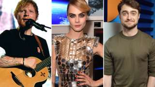 Ed Sheeran, Cara Delevingne, Daniel Radcliffe