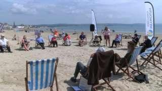 Weymouth Town Council beach meeting
