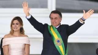 Michelle na Jair Bolsonaro