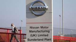 Nissan's car plant in Sunderland