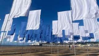 Luke Jerram's art installation on Weston Beach