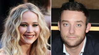 US actress Jennifer Lawrence and her fiancé Cooke Maroney (seen here in 2013)