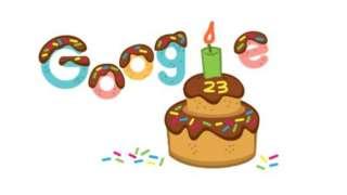 doodle em homenagem aos 23 anos do google