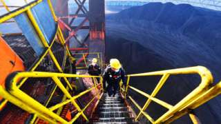 File image shows a coal mine in China