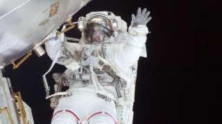 Nicole Stott in space