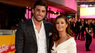 Love Island 2018 winners Jack Fincham and Dani Dyer posing for a red carpet picture