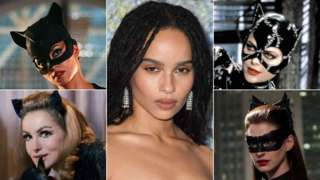 Clockwise from top left: Halle Berry, Zoe Kravitz, Michelle Pfeiffer, Anne Hathaway and Julie Newmar