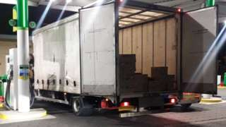 Lorry parked