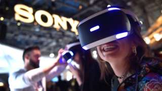 Sony stand at CES conference 2018