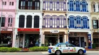 Khu nhà shophouse cổ khu phố Tanjong Pagar.