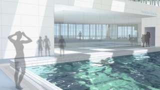 Drawing of proposed swimming pool