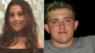 Georgia Jones, 18, and Tommy Cowan, 20,
