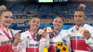 Women's gymnastics team bronze