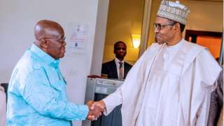 Buhari and Nana Akufo Addo