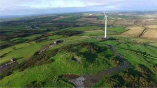 The wind turbine outside Rathfriland, County Down