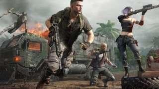 Screenshot of fighting