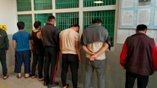 Россия полицияси ушлаган мигрантлар
