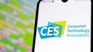 CES logo on a phone