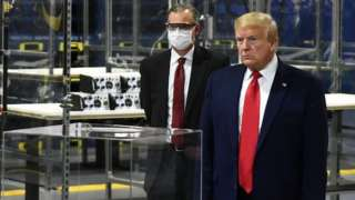 President Trump inspecting Ford plant