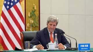 US Climate Envoy John Kerry pictured in Tianjin